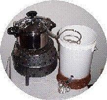 man distiller set up