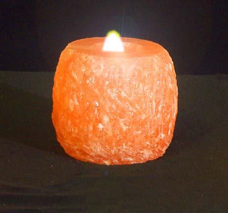 Salt Candles Or Lamps : Himalyan Rock Salt Candle